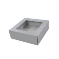 Boîte ondulée d'impression CMYK personnalisée avec fenêtre en PVC