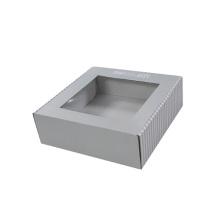 Custom CMYK Printing Corrugated Box with PVC Window