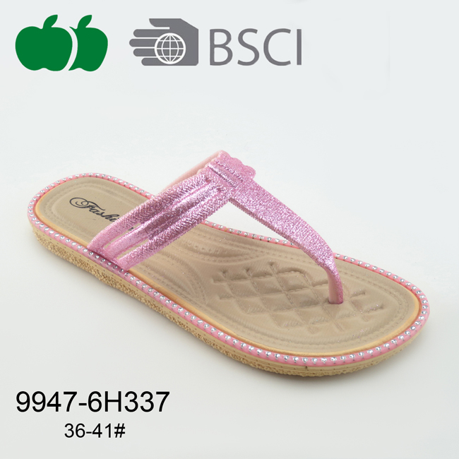 Fancy Flat Ladies Plastic Slippers