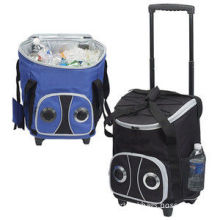 70d Polyester Pu Trolley Radio Cooler Bag Large Capacity For Adult