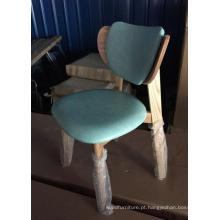 Cadeira nova dos restaurantes do projeto da madeira na almofada macia verde (FOH-BCA27-C)
