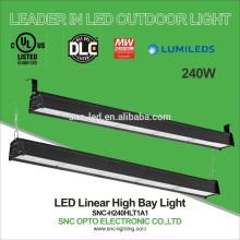 5ft LED Linear Highbay, 240W Linear High Bay for High Racks, UL DLC LED Highbays