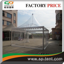 Clear PVC wall wedding party pagoda tents 5m by 5m