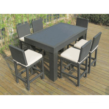 Patio Rattan Wicker Garden Outdoor Furniture Bar Chair Set