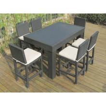 Jardim de vime do Rattan do pátio ao ar livre mobiliário Bar cadeira conjunto