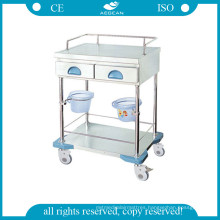AG-Mt035 Luxurious Stainless Steel Treatment Cart