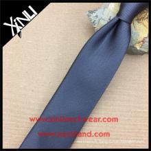 La cravate parfaite de soie de noeud de cou a tricoté la cravate noire de mens de mode de reps de mode
