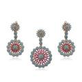 64259-jóias de moda jóias de prata 18k banhado a ouro, estilo Dubai conjuntos de jóias de bronze
