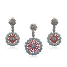 64259 -Xuping bijoux Fashion 18k plaqué or bijoux, Dubaï Style laiton ensembles de bijoux