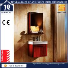 Heißer verkaufender Lack-hölzerner Badezimmer-Eitelkeit mit Spiegel-Kabinett