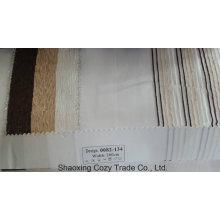 Nouveau tissu de rideau transparent Organza VoIP à rayures de projet populaire 0082134