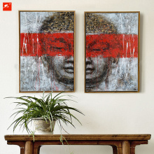 Gentle Buddha Wall Art Handmade Oil Painting Set