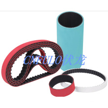 Coating Rubber Timing Belt, Red Green Grey White Color
