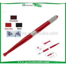2015 getbetterlife Blue & Red Two Colors Aluminum manual permanent makeup pen/manual eyebrow tattoo pen/eyebrow embroidery