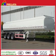 Reboque líquido do tanque de água do petroleiro do transporte de aço com o volume opcional