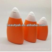 Botella de PE de aceite solar de 45-80ml