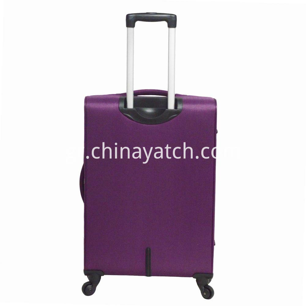 Contrast Fabric Luggage Suitcase
