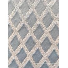 Tecido de lã macia azul estampa floral