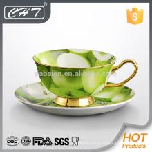 Melhor produto novo em 2014 xícara de chá de porcelana fina e pires conjunto