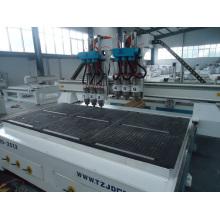 2500mm * 1300mm CER bewahrter China CNC-Fräser mit sechs Kopf