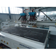 2500mm*1300mm CE Proved China CNC Router with Six Head