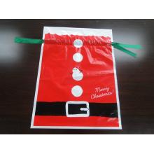 Индивидуальный печати PE пластиковый пакет подарков сумка для Рождества День рождения