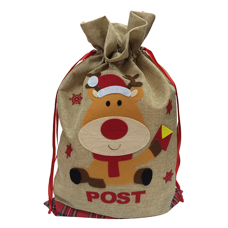 Christmas Cute Reindeer Pattern Sack