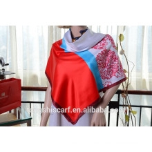 Neueste modische Panel-Muster gedruckt quadratischen Schal und Schal heißer Verkauf Schal
