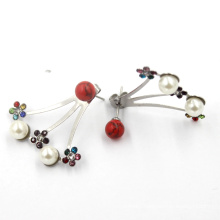 Fashion Flower Earrings Jewelry Women Earring Charm Ladies Stud Earrings