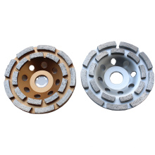concrete and stone polish segmented turbo double row cup grinding wheel