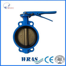 High quality wafer butterfly valves with lever pneumatic actuator