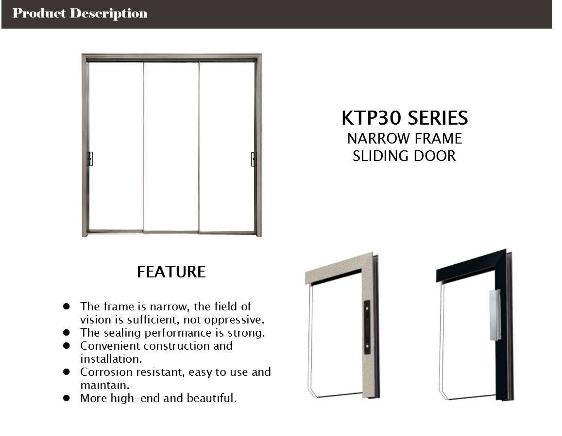 narrow frame aluminium sliding doors