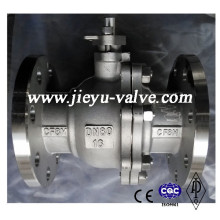 Aço Inoxidável CF8m Pn16 Dn80 Válvula de Esfera