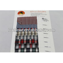 Stock 100% polyester stripe shirting fabric