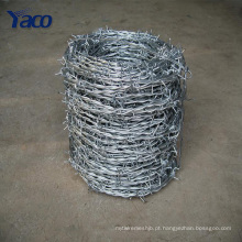 Preço do arame farpado da cerca do Anti-ladrão do fio galvanizado por imersão a quente por o rolo para venda