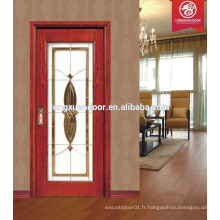 Nouvelle conception, portes en bois massif, porte en bois, verre porte prix