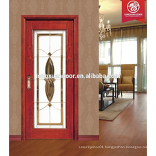 new design solid wood door pictures, wood door glass, glass door price
