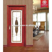 Novas imagens de porta de madeira sólida, vidro de porta de madeira, preço de porta de vidro