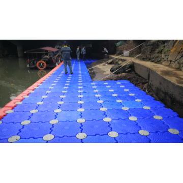 Hot sale polyethylene modular floating dock double cube marina modular floating dock steel pontoon