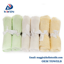Custom Private Label Best Selling Products 25x25cm Bamboo Fiber Baby wash cloth