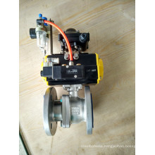 2 PC Electro Pneumatic Flange Ball Valve