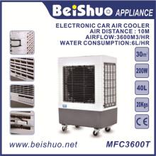 Ventilateur de refroidissement électronique 40L / Refroidisseur d'air portatif, plastique évaporatif DC 24V
