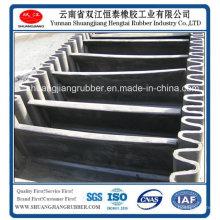 Banda transportadora resistente al calor con pared lateral