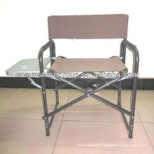 Chaise directeur de portable en aluminium avec porte-gobelet