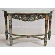 carved antique console table