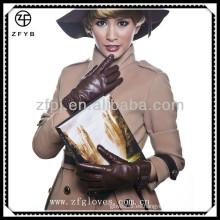 Guante de cuero nuevo diseño de la muchacha de la belleza de Fashional