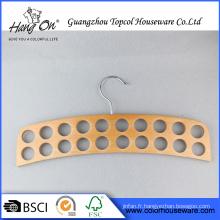 Forme spéciale chaud vente maison cintre en bois pour cravate/ceinture