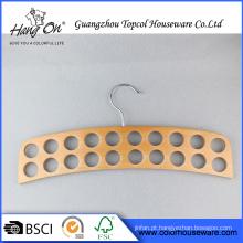 Forma especial quente venda doméstica de madeira cabide para gravata/correia