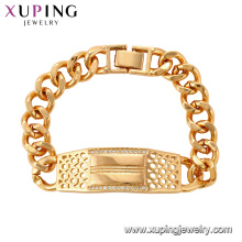 75127 Xuping unique style simple silk thread brass bracelet gold jewelry