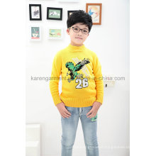 Gradient Color Eagle Boys Wool Sweater